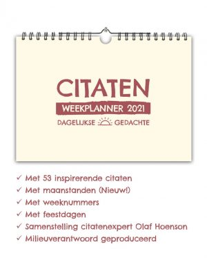 Citaten Weekplanner 2021