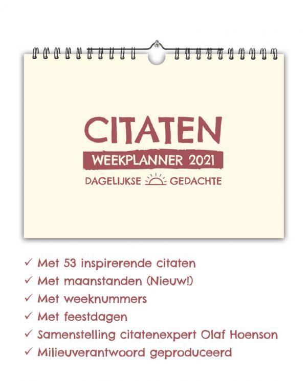 Citaten Weekplanner 2021